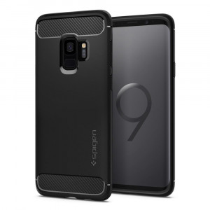 Skal Spigen Galaxy S9 Case Rugged Armor Matte Black