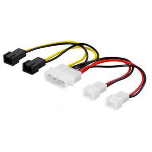 Adapter Ström 4-pin molex - 3-pin x 4