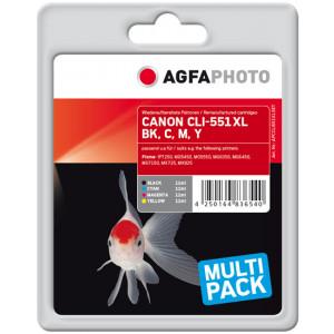Canon CLI-551C/M/Y/BK (Cyan/Magenta/Gul/Svart)