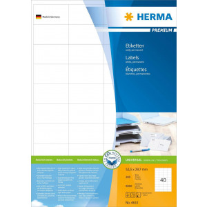 Etiketter 52,5x29,7 4000st (100-pack A4 blad)