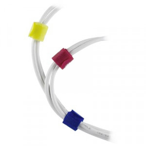 Kabelsamlare Kardborr 21x180mm Färgade 10-pack