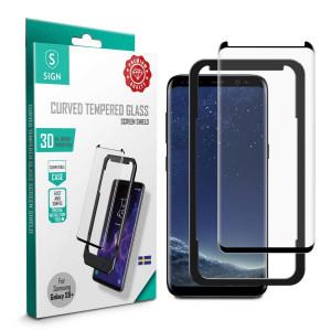 Skärmskydd - Samsung Galaxy S8+/S9+ Härdat 3D glas SNTP-S8P