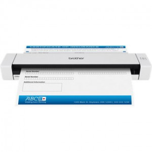Brother DS-620 Arkmatad skanner 600 x 600DPI A4 Svart, Vit skannrar