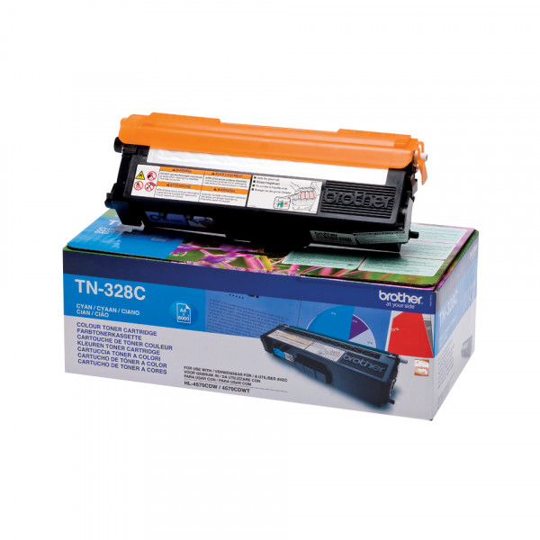 Brother Toner TN-328C 6.000sid Cyan Super High Yie