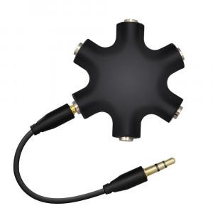 Ljudsplitter 3.5mm Audio Aux splitter 5-port