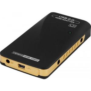 USB 2.0 till HDMI-adapter extra grafikkort FullHD.
