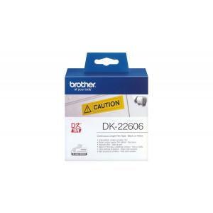 Brother DK-22606 Svart på gul DK etikett-tejp