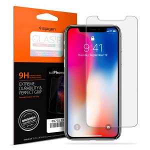 Skärmskydd iPhone X / XS Spigen iPhone X / Xs Glass