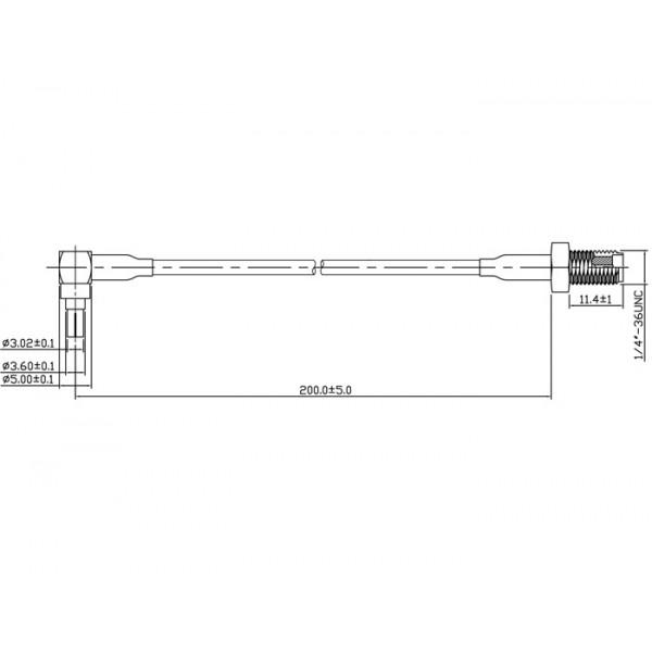Antennadapter, CRC9 ha vinklad - SMA ho, 0.2m