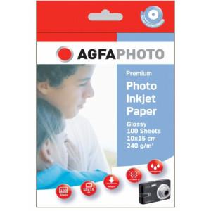 Fotopapper A6 10x15cm 240g Glossy InkJet 100st