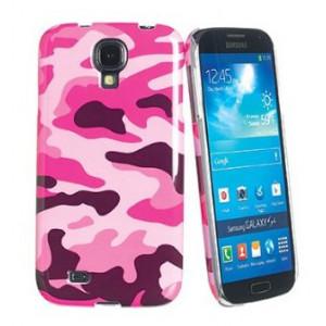 Skal - Samsung Galaxy S4 - Muvit Camo rosa + Skärm