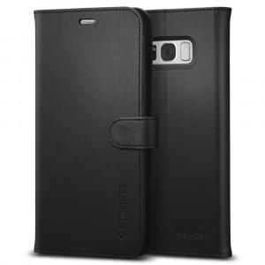 Fodral Samsung Galaxy S8 Plus / S9 Plus Spigen Galaxy S8+ Wallet S Case Black