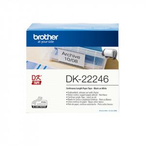 Brother DK-22246 Svart på vitt DK etikett-tejp