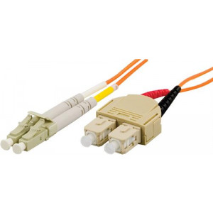 DELTACO fiberkablage LC - SC, duplex, multimode, 50/125, 2m