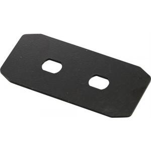 DELTACO kontaktplåt för FBP-1000, 2xST-kontakter, svart