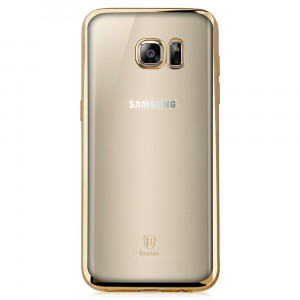 Skal - Samsung Galaxy S7 Edge Transparent Guld