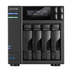 NAS Asustor AS6204T NAS 4-Bay Tower/4GB/Intel/GbEx2