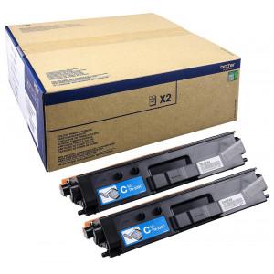 Brother TN-329CTWIN Laser toner 12000sidor Cyan lasertoners & patroner