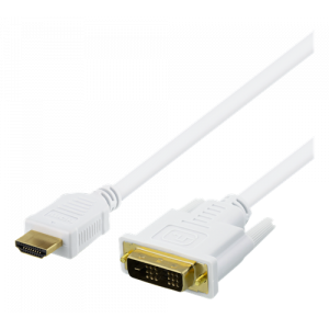 HDMI TO DVI CABLE WITHOUT FERRITE CORE 5M WHITE
