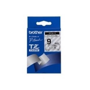 Brother Black on Clear Gloss Laminated Tape, 9mm TZ etikett-tejp