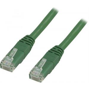 Nätverkskabel Cat5e (0.5m) UTP Grön