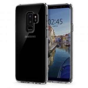 Skal Spigen Galaxy S9+ Case Ultra Hybrid Crystal Clear