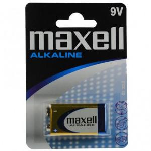 Batteri 9V Alkaline LR61 - Maxell Alkalisk