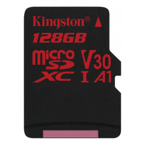 microSD Kingston 128GB microSDXC Canvas React 100/80 U3 UHS-I V30 A1 w/o Adapt