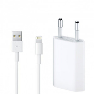 Laddare USB Adapter+Lightning kabel Apple Original MD818ZM-MD813ZM