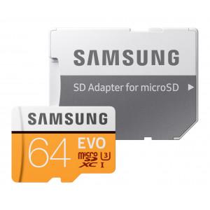 microSD - 64GB Samsung MicroSD EVO R100/W60