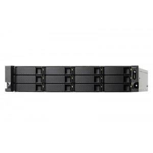 NAS QNAP TS-1273U-RP NAS Rack (2U) Nätverksansluten (Ethernet) Svart, Grå
