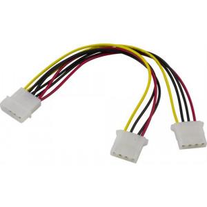 Y-kabel ström 4-pin molex för 2st enheter