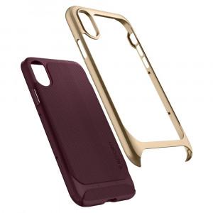 Skal Spigen iPhone X 2017 Case Neo Hybrid Burgundy