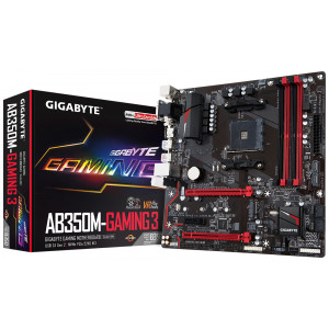 Moderkort -AMD AM4 mATX Gigabyte GA-AB350M-GAMING3