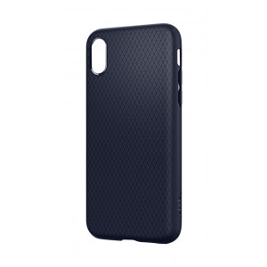 Skal Spigen iPhone X Liquid Air Midnight Blue