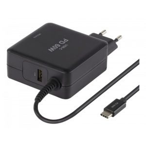 Laddare USB-C 60W Macbook/HP/Dell/Asus/Acer/Lenovo SMP-USBC60PD