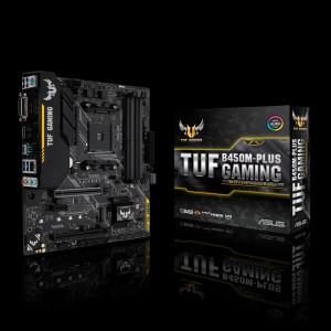 ASUS TUF B450M-PLUS GAMING Uttag AM4 AMD B450 Micro ATX