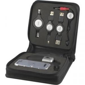 Kabelväska + USB-hub + Mus + Headset