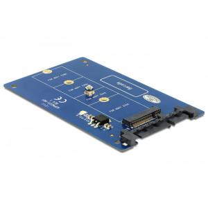 DeLOCK 62559 SATA M.2 NGFF Blå kabeladaptrar