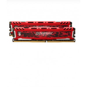 DDR4-2666 16GB (2x8GB) - Ballistix Sport LT Red