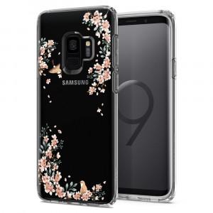 Skal Spigen Galaxy S9 Case Liquid - Crystal Blossom Nature