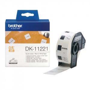 Brother DK-11221 Svart på vitt DK etikett-tejp