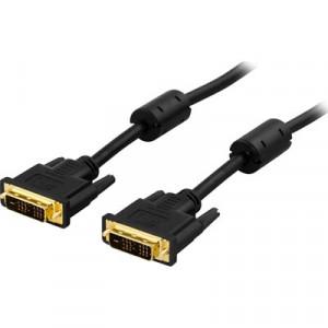 Deltaco VE011-A 2m DVI-D DVI-D Svart DVI-kabel