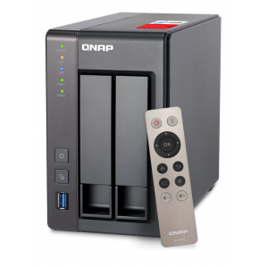 Qnap TS-251+-8G - 2-disk NAS, Intel Quad Core Celeron, 8GB RAM, svart TS-251+-8G (8GB RAM)