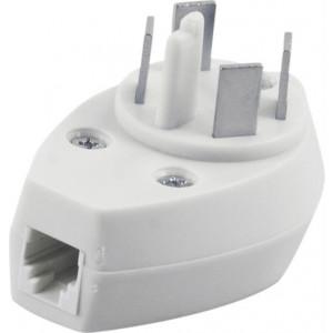 Telefonpropp Adapter med modularjack 6P/4C