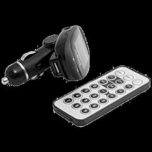 FM-sändare Med USB, AUX och SD-kortläsare, Fjärrkontroll