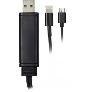 Kabel USB 2.0 A ha - Lightning + micro USB 0.5m