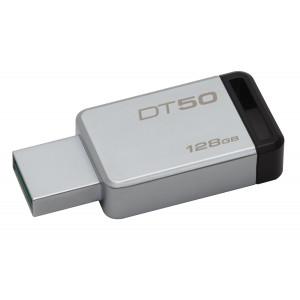 USB minne Kingston DT50, 128GB USB 3.0, Metal/Black