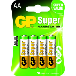 Batteri AA (LR6) 4-pack - GP Super Alkaline