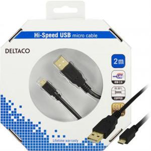 Micro USB kabel (2m) GOLD